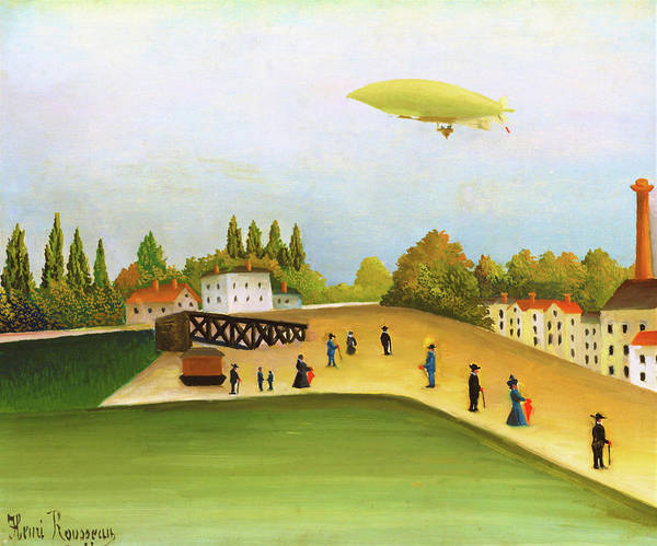 Wall Art - Painting - Riverside Ivry - Digital Remastered Edition by Henri Rousseau