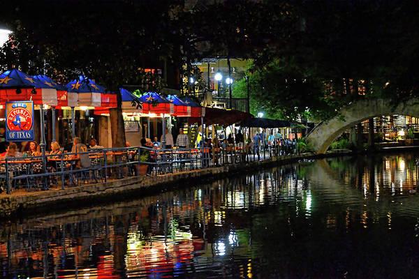 Photograph - Riverwalk At Night by Kathy McCabe