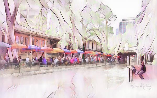 Photograph - Riverwalk In Pastel by Kathy McCabe