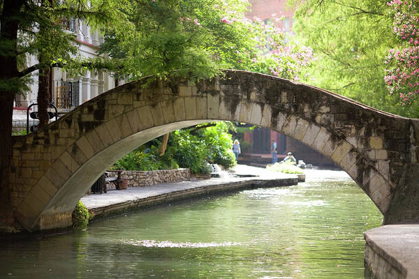 San-antonio Photograph - Riverwalk Stone Arch Bridge by Samdiesel