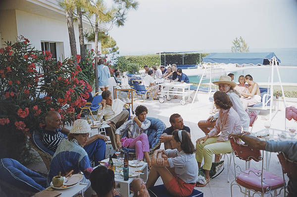 Enjoyment Photograph - Riviera Crowd by Slim Aarons