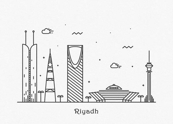 Photograph - Riyadh Cityscape Travel Poster by Inspirowl Design