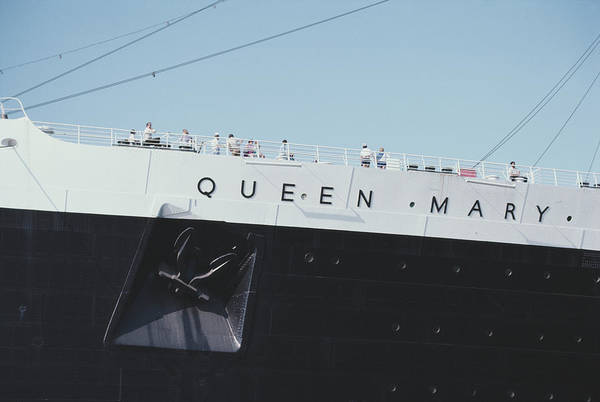 Photograph - Rms Queen Mary by Alfred Gescheidt