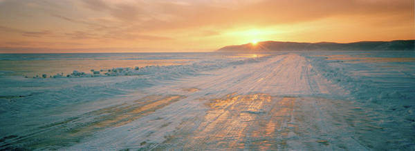 Wall Art - Photograph - Road Across The Frozen Lake Baikal by Cultura Rm Exclusive/philip Lee Harvey