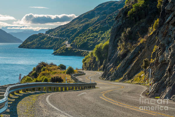 Route Photograph - Road Along Lake Wakatipu, Queenstown by Naruedom Yaempongsa
