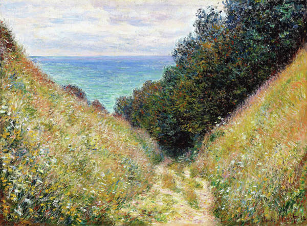 Wall Art - Painting - Road At La Cavee, Pourville - Digital Remastered Edition by Claude Monet