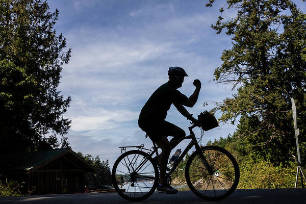 Wall Art - Photograph - Road Cycling On Galliano Island by Chuck Haney