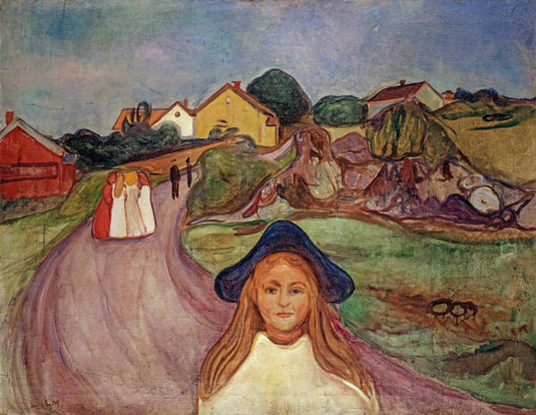 Wall Art - Painting - Road In Aasgaardstrand, 1901 by Edvard Munch