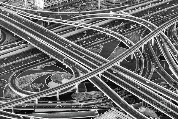 Wall Art - Photograph - Road Interchange From Above by Delphimages Photo Creations