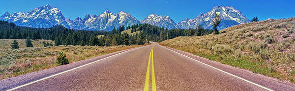 Wall Art - Photograph - Road Leading Towards Mountain Range by Panoramic Images
