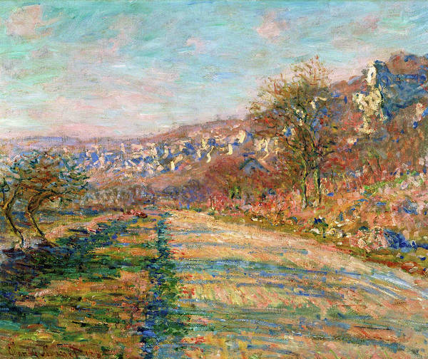 Wall Art - Painting - Road Of La Roche-guyon - Digital Remastered Edition by Claude Monet