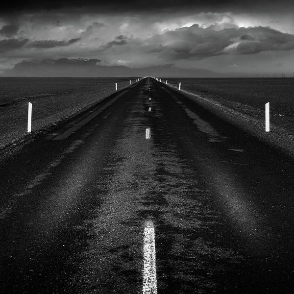 Photograph - Road One, Iceland by Peter OReilly