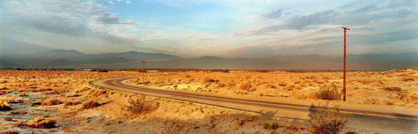 Wall Art - Photograph - Road Passing Through Desert, Palm by Panoramic Images