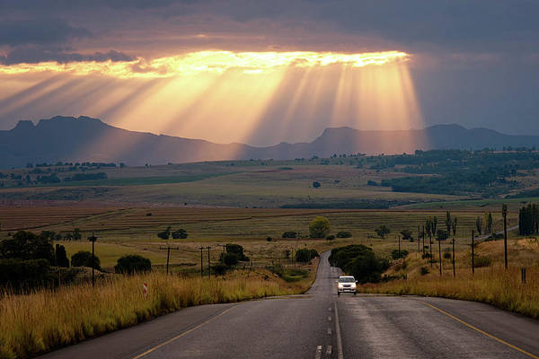 On The Move Photograph - Road Rays by Paul Bruins Photography