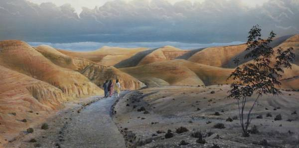 Painting - Road To Emmaus by Peter Mathios