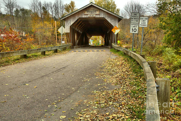 Photograph - Road To The Cambridge Junction Covered Bridge by Adam Jewell