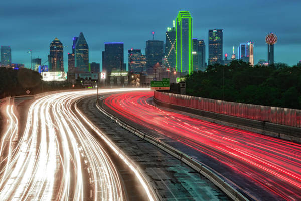 Photograph - Road To The Dallas Texas Skyline by Gregory Ballos