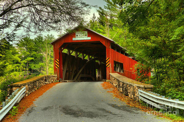 Photograph - Road To The Landisburg Covered Brdge by Adam Jewell