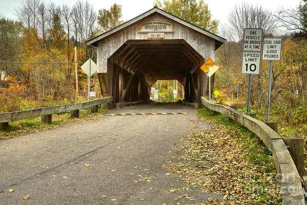 Photograph - Road To The Poland Covered Bridge by Adam Jewell