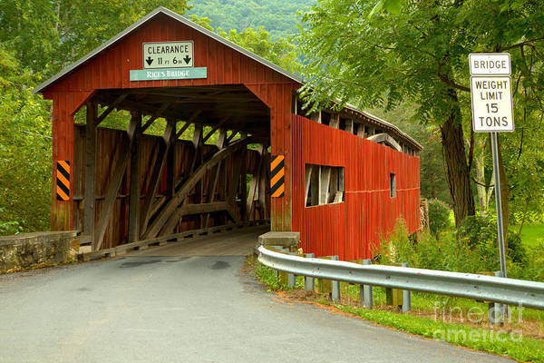 Photograph - Road To The Rice's Covered Bridge by Adam Jewell
