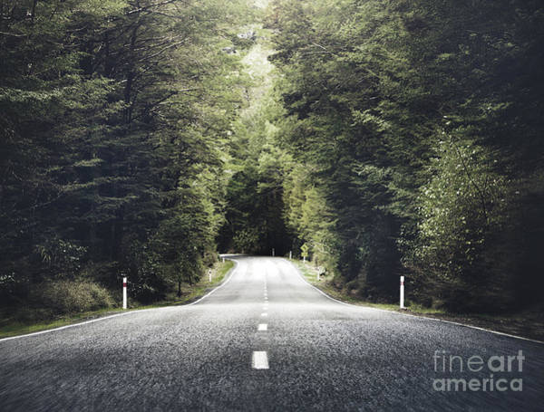 Beauty In Nature Wall Art - Photograph - Road Travel Journey Nature Scenic by Rawpixel.com