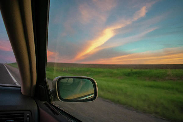 Wall Art - Photograph - Road Trip Sunset - Color by Michael Paris - Photography