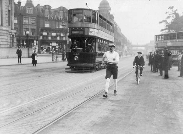1923 Photograph - Road Walking by Topical Press Agency