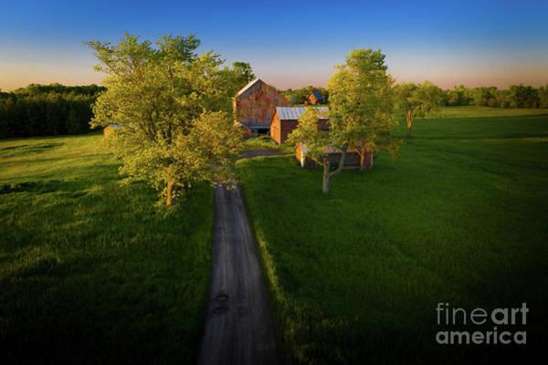 Photograph - Roadside Barns by Roger Monahan