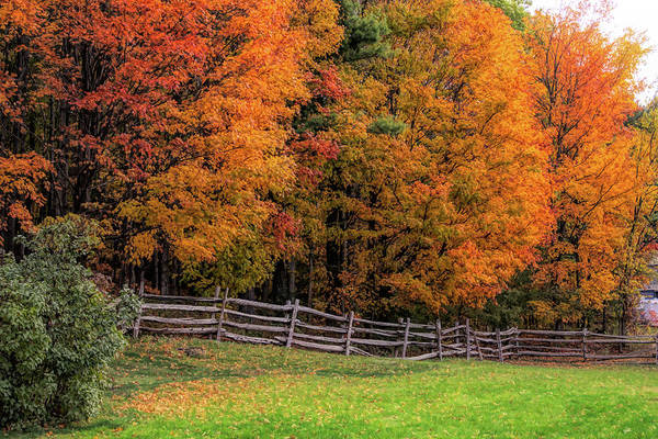 Photograph - Roadside View Of Vermont Fall Colors by Jeff Folger
