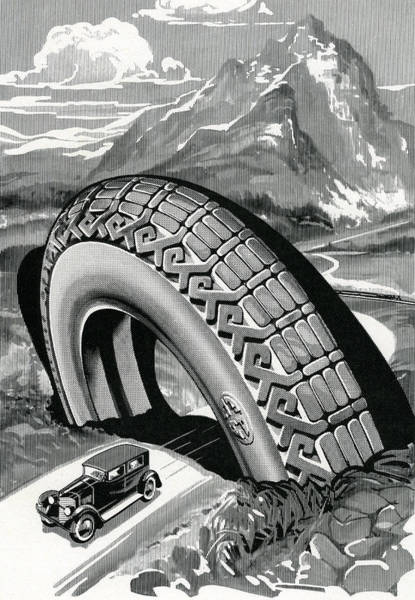Scale Digital Art - Roadster Driving Through Tire by Graphicaartis