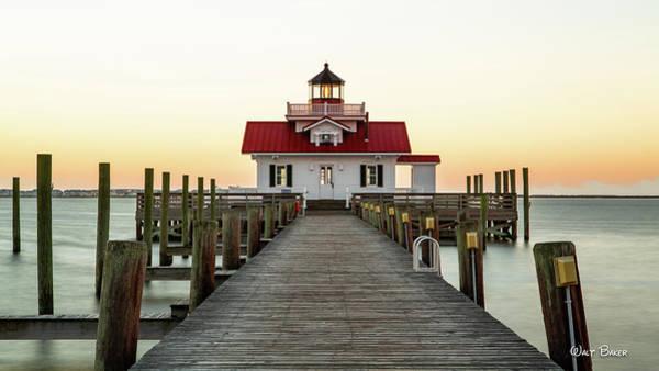 Roanoke Marshes Light Wall Art - Photograph - Roanoke Marshes Lighthouse by Walt Baker