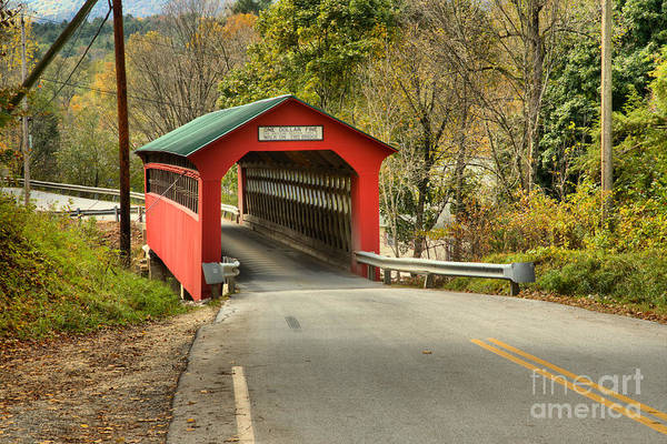 Photograph - Roaring Branch Brook Covered Bridge by Adam Jewell