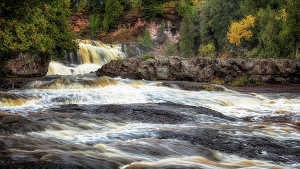 Photograph - Roaring Gooseberry Falls by Susan Rissi Tregoning