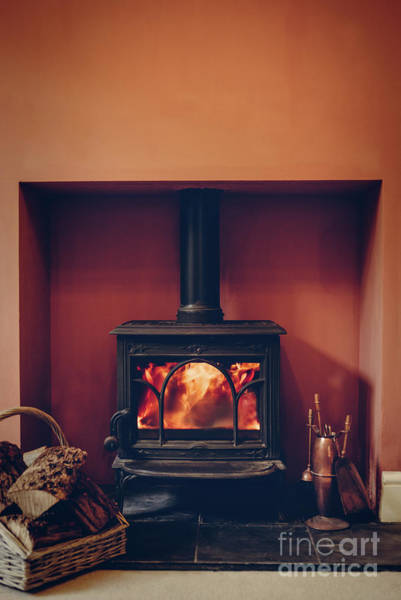 Wall Art - Photograph - Roaring Log Fire by Amanda Elwell