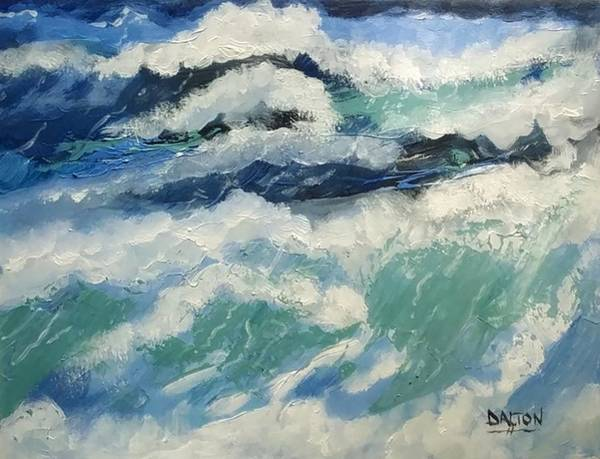 Painting - Roaring Ocean by George Dalton