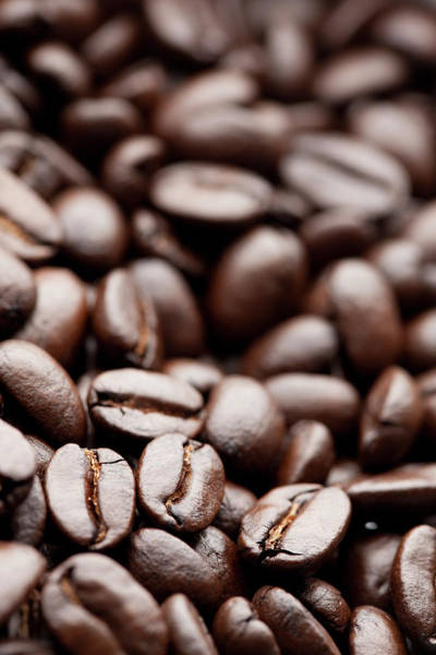 Wall Art - Photograph - Roasted Organic Coffee Beans Close Up by Jill Fromer
