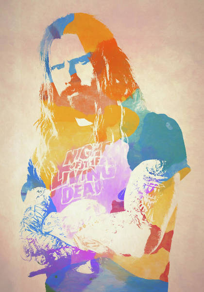 Wall Art - Painting - Rob Zombie by Dan Sproul
