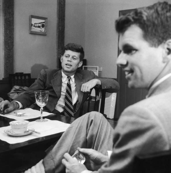 Us President Photograph - Robert & John F. Kennedy by Three Lions