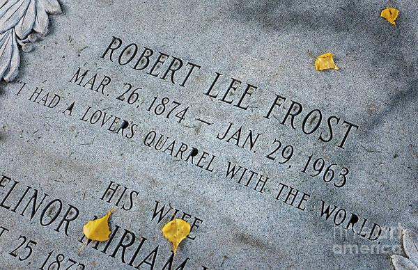 Wall Art - Photograph - Robert Frost Grave by John Greim