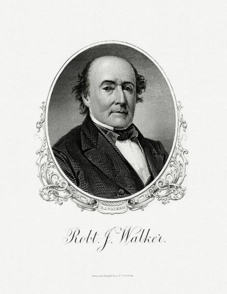 Wall Art - Painting - Robert J. Walker by The Bureau of Engraving and Printing