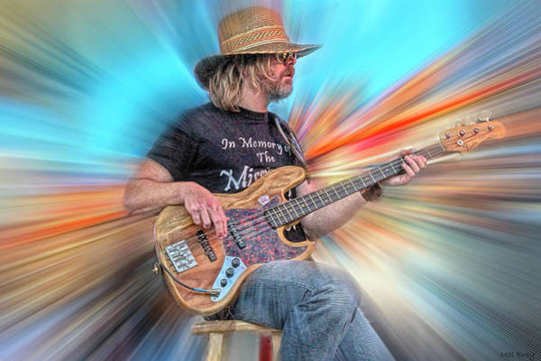 Wall Art - Digital Art - Robert Kearns Bassist by Mal Bray
