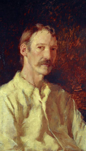 Kidnap Wall Art - Painting - Robert Louis Stevenson by Girolamo Nerli