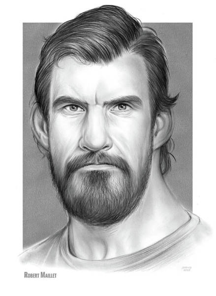 Rim Wall Art - Drawing - Robert Maillet by Greg Joens