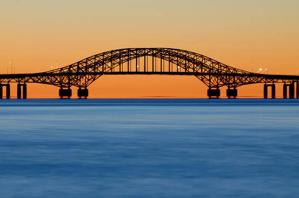 Babylon Photograph - Robert Moses Causeway Bridge Before Dawn by Vicki Jauron, Babylon And Beyond Photography