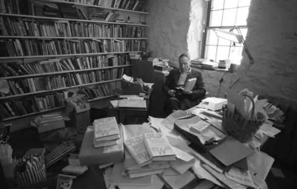 Poet Photograph - Robert Penn Warren At Home by I C Rapoport