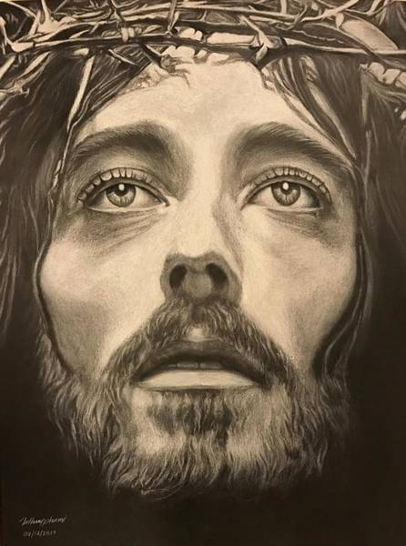 Wall Art - Drawing - Jesus by Thuy Pham