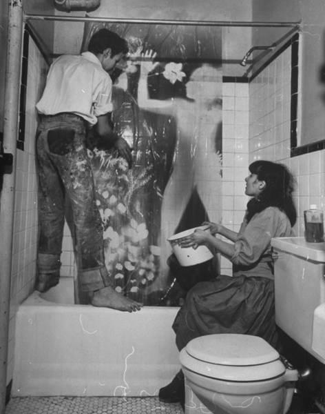 Archival Paper Photograph - Robert Rauschenberg by Wallace Kirkland