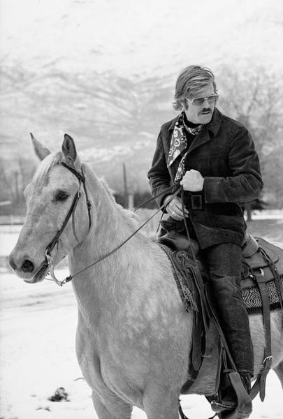 Robert Redford On A Horse Art Print by John Dominis