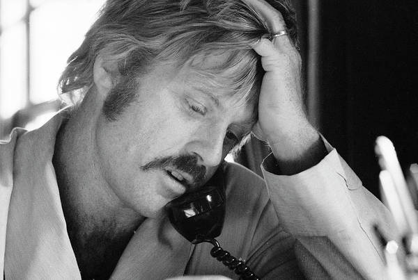 Photograph - Robert Redford On The Phone by John Dominis