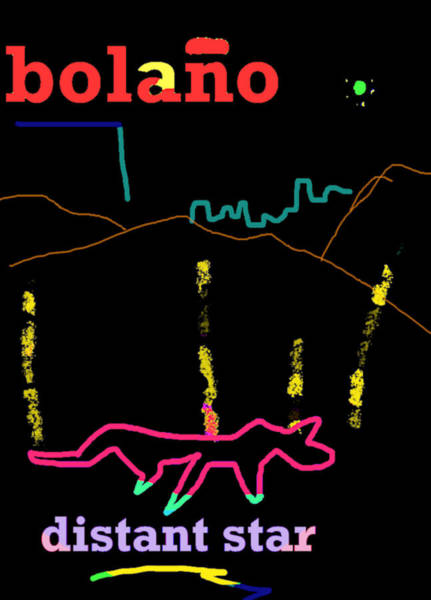 Drawing - Roberto Bolano Poster Ds  by Paul Sutcliffe